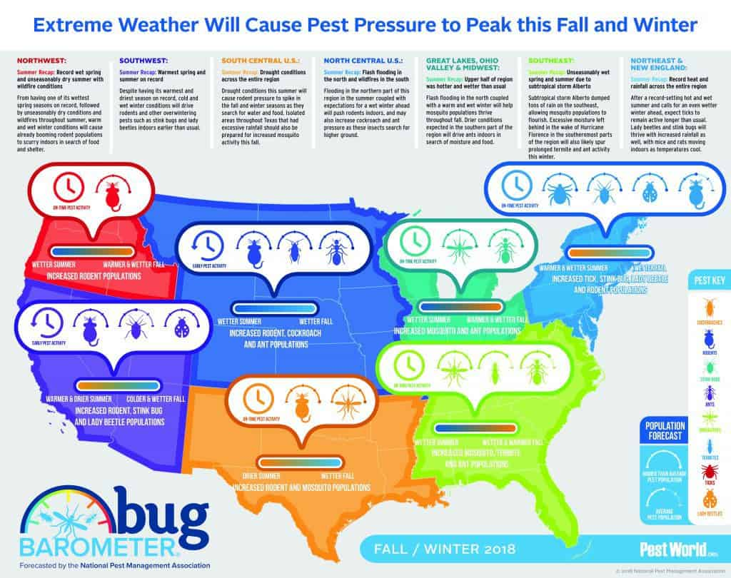 Winter Bug Barometer for the United States