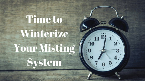 Time to Winterize Your MistAway Mosquito Misting System.